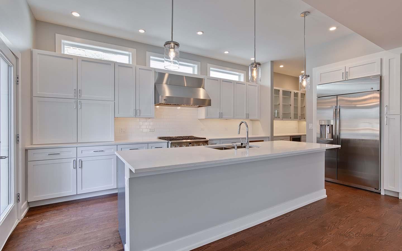 Chicago Custom Home Builder BrightLeaf Homes - Modern Kitchen